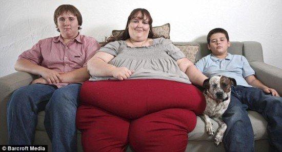 世界最胖的美女 700公斤 - [图+影]美国妇人体重